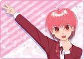 Japanese Manga style[smile girl]