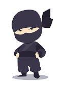 Japanese ninja vector