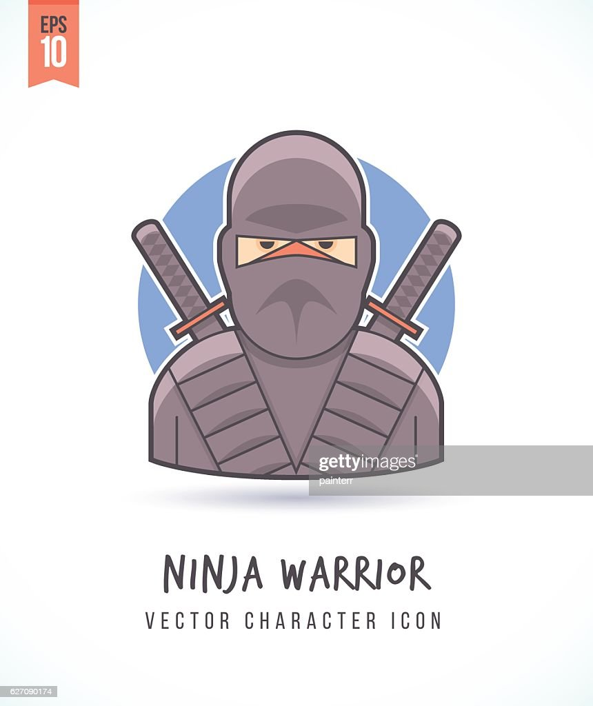 Japanese ninja warrior illustration