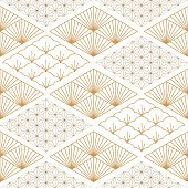 Japanese pattern background. Geometric template vector. Line elements.