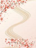 Japanese pattern cherry blossoms