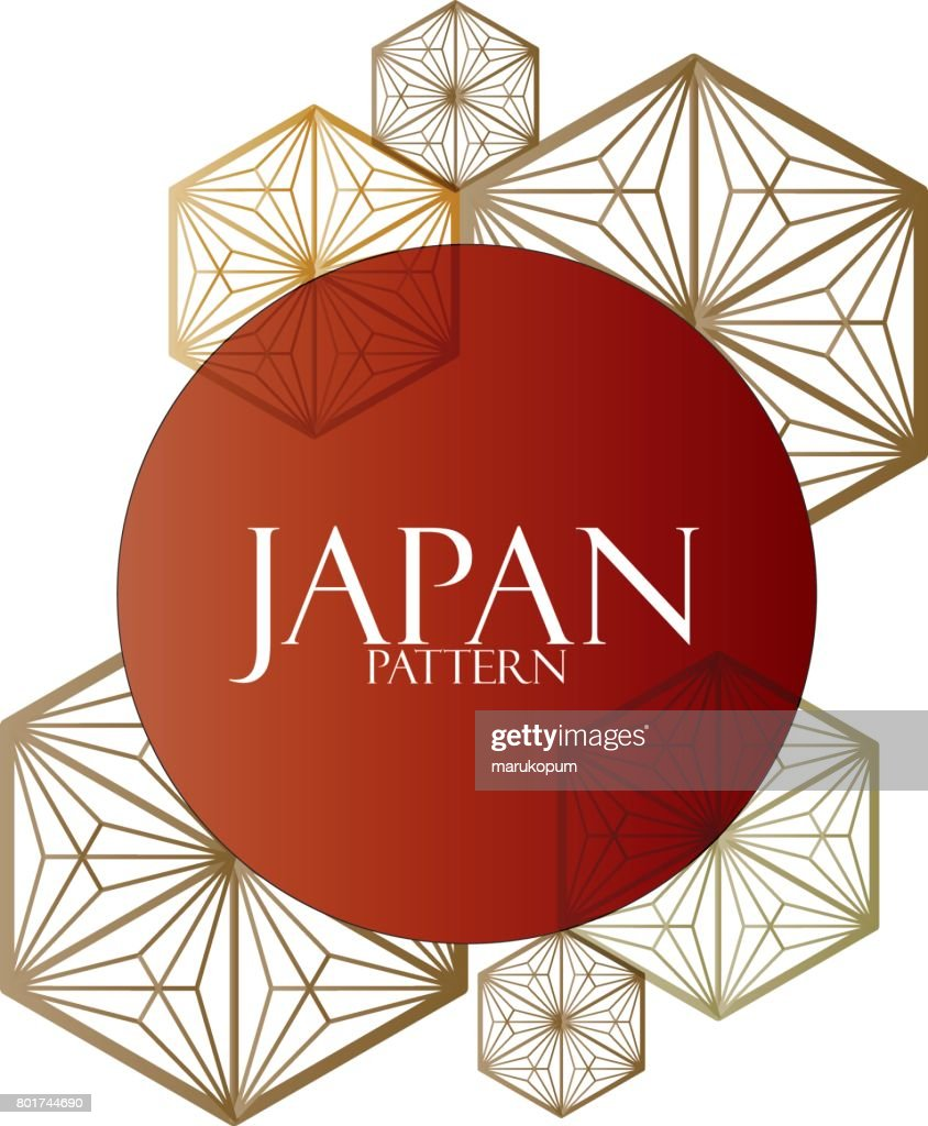 Japanese pattern cover book, poster, card, design element