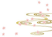 Japanese pattern. Spring in Japan. Image of spring. Calendar clip art. background.