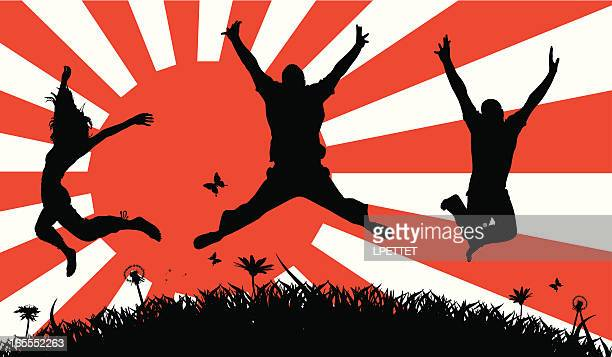 japanese pride - only japanese stock illustrations, clip art, cartoons, & icons