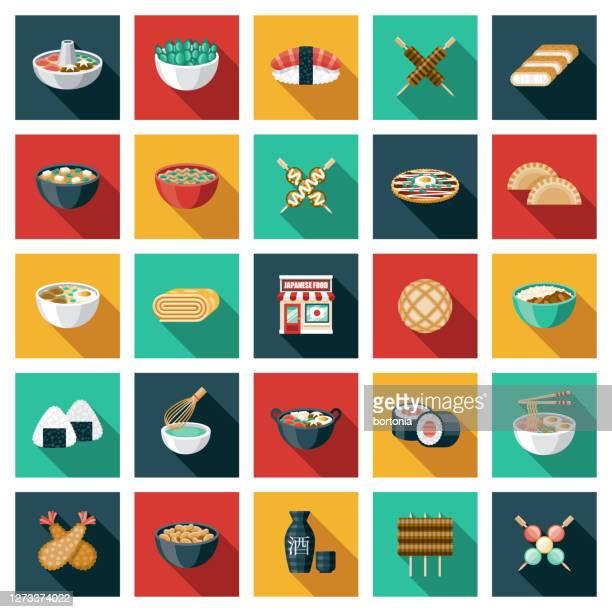 ilustrações de stock, clip art, desenhos animados e ícones de japanese restaurant icon set - tonkatsu