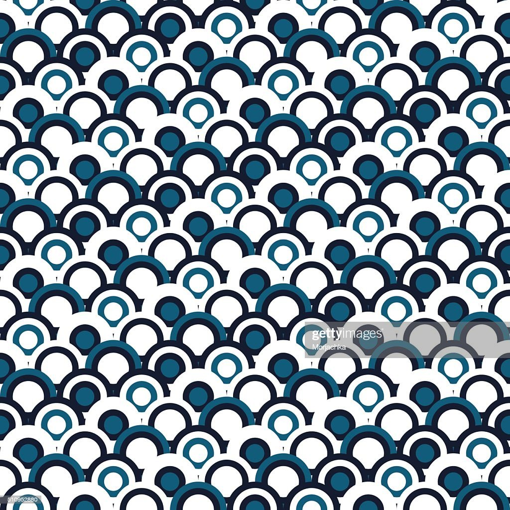 Japanese seamles pattern. Traditional background without any seams.Vector sea waves