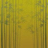 Japanese style bamboo forest background illustration