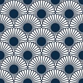 Japanese style chrysanthemum seamles pattern. Traditional flower.Vector blosom endless texture