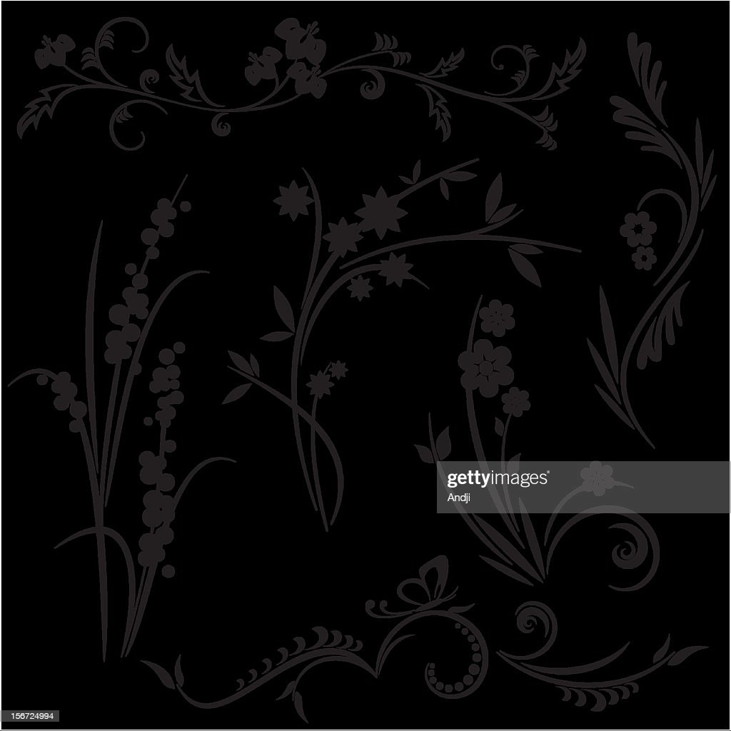 Japanese style floral design background