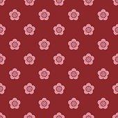 Japanese style plum blossom pattern