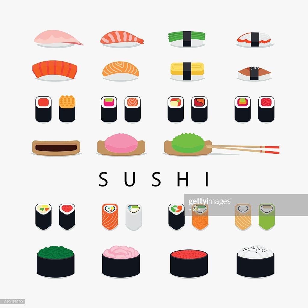 Japanese sushi icons