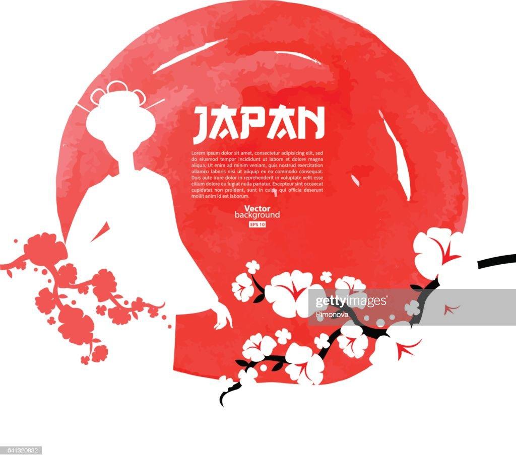 Japanese sushi menu background