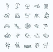 Japanese theme icon set