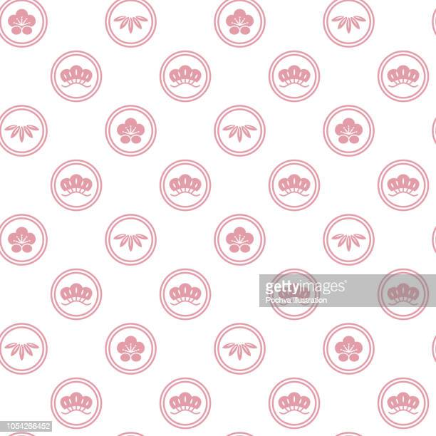 日本の伝統的なシームレス パターン - 竹点のイラスト素材/クリップアート素材/マンガ素材/アイコン素材