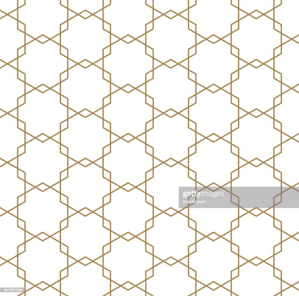 Japanese vector background. Gold pattern vector.
