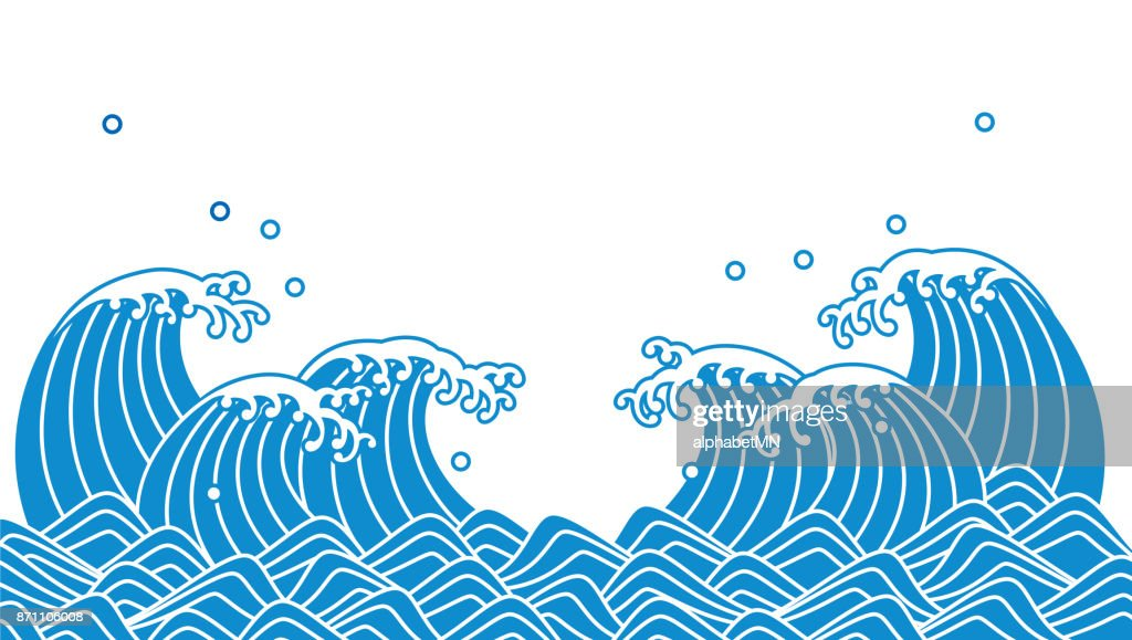 Japanese wave of blue wave