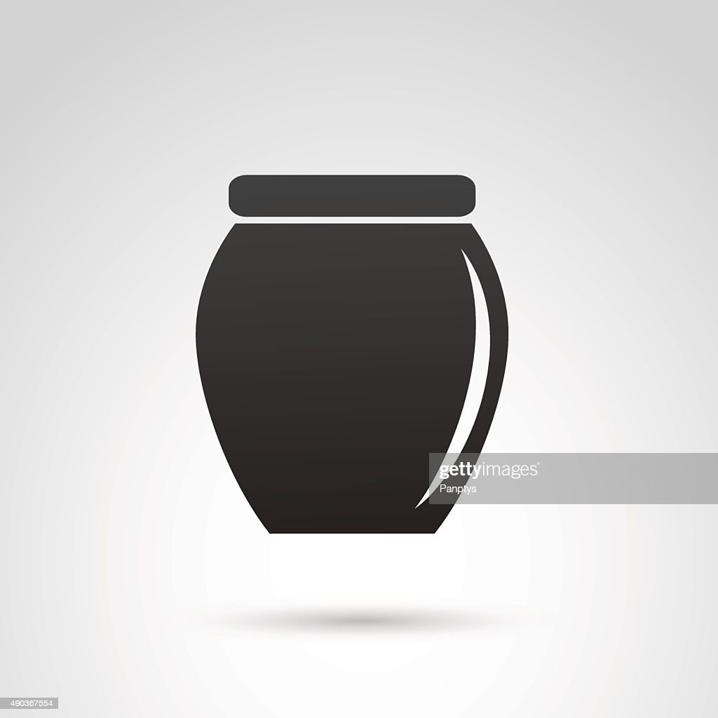 Jar icon isolated on white background.