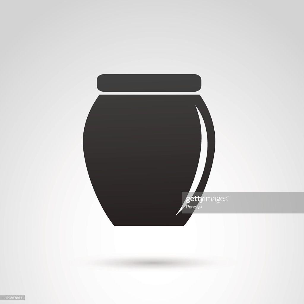 Jar icon isolated on white background.
