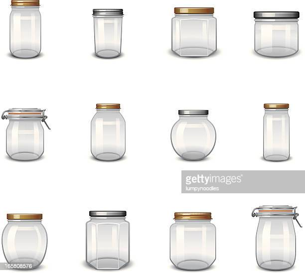 jar icons - container stock illustrations
