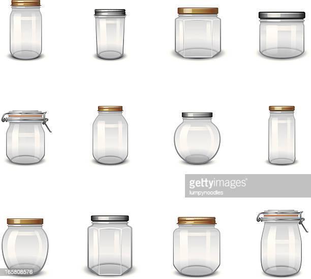 jar icons - jar stock illustrations