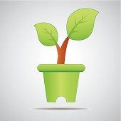 Jardiniere. Go green. Save world