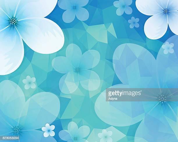 ilustrações, clipart, desenhos animados e ícones de fundo de jasmim - azul
