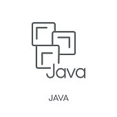 Java linear icon. Modern outline Java logo concept on white background from Programming collection