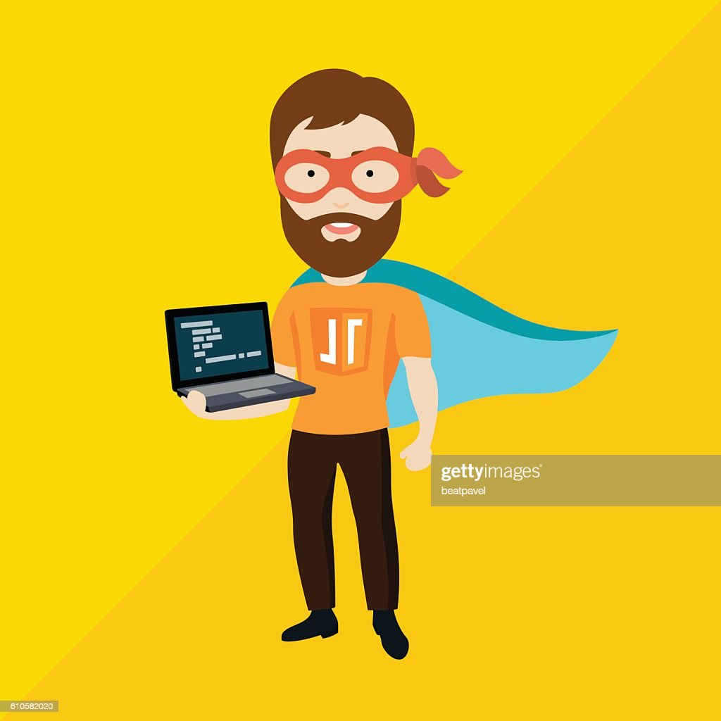 Java Script Specialist as Superhero