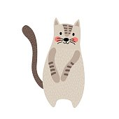 Javanese cat animal cartoon character vector illustration.