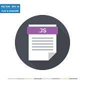 Javascript script text document file format flat icon