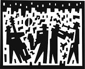 jazz band - abstract illustration