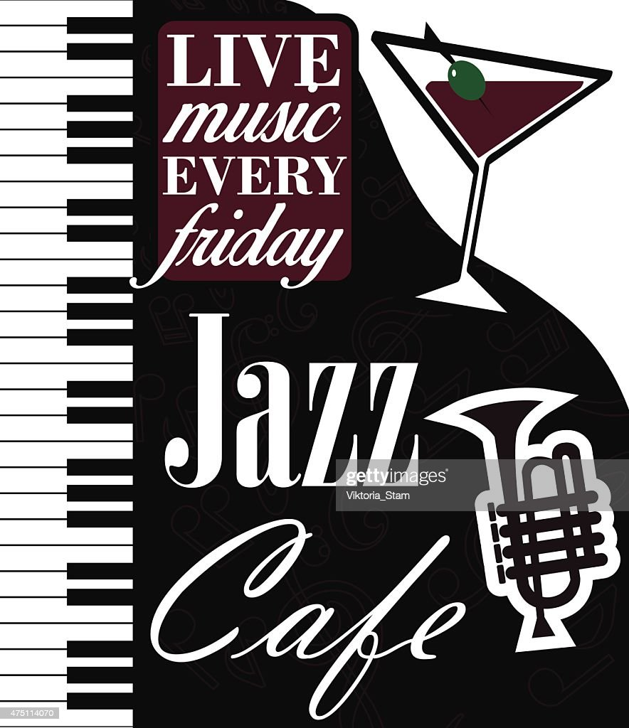 Jazz Cafe Vector Poster