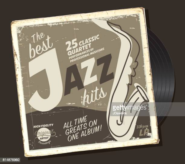 Jazz compilation retro record sleeve design template