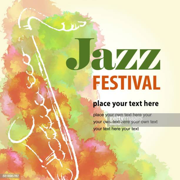 jazz festival - saxaphone stock illustrations, clip art, cartoons, & icons