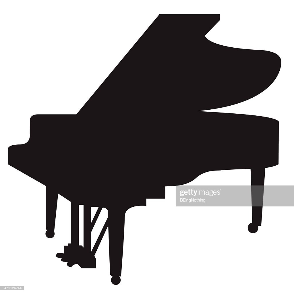 Jazz Grand Piano Silhouette