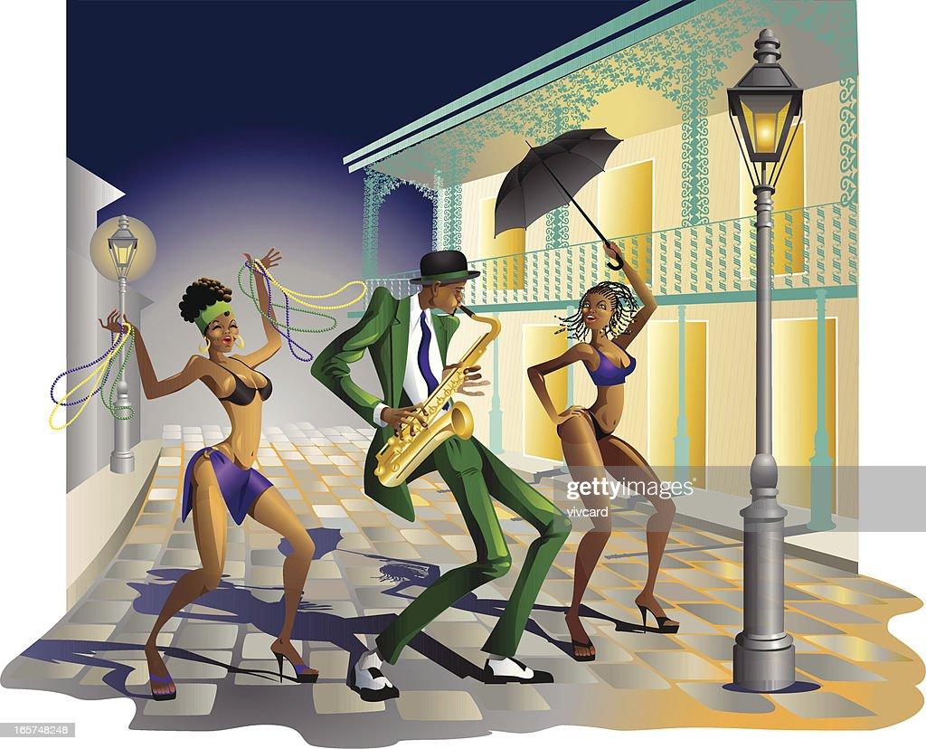 Jazz in New Orleans : stock illustration
