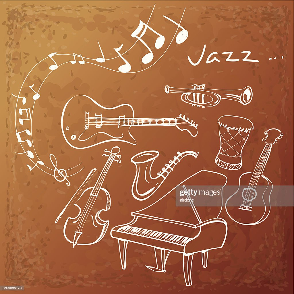 Jazz Instrument Background