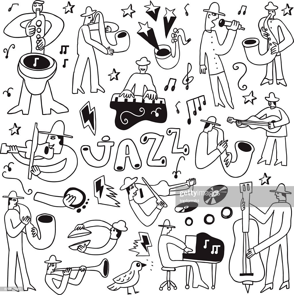 jazz musicians -doodles set