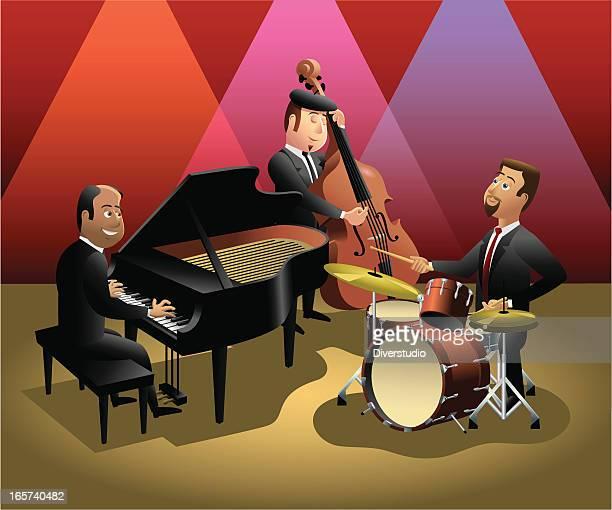 Trio de Jazz dans un night-club