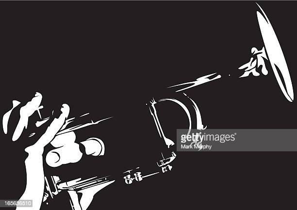Jazz Trumpet in Silhouette
