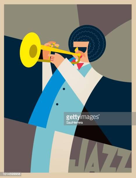 ilustrações, clipart, desenhos animados e ícones de jazz - arte, cultura e espetáculo
