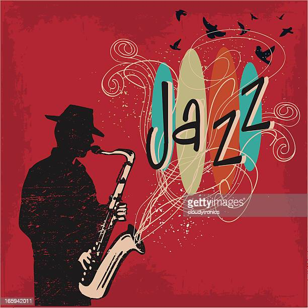 jazz - saxaphone stock illustrations, clip art, cartoons, & icons