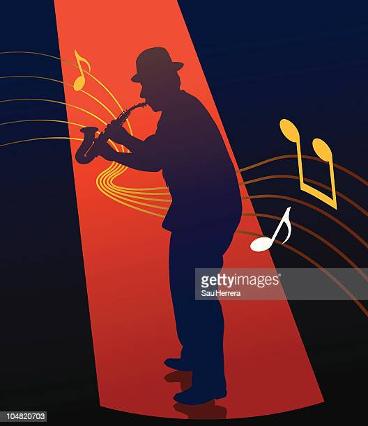jazzman - new orleans stock illustrations, clip art, cartoons, & icons