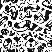 Jazzmans - seamless background