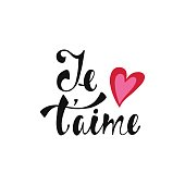 Je t'aime. Declaration of love in French