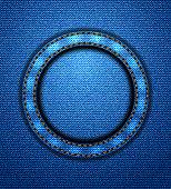 Jeans circular patch