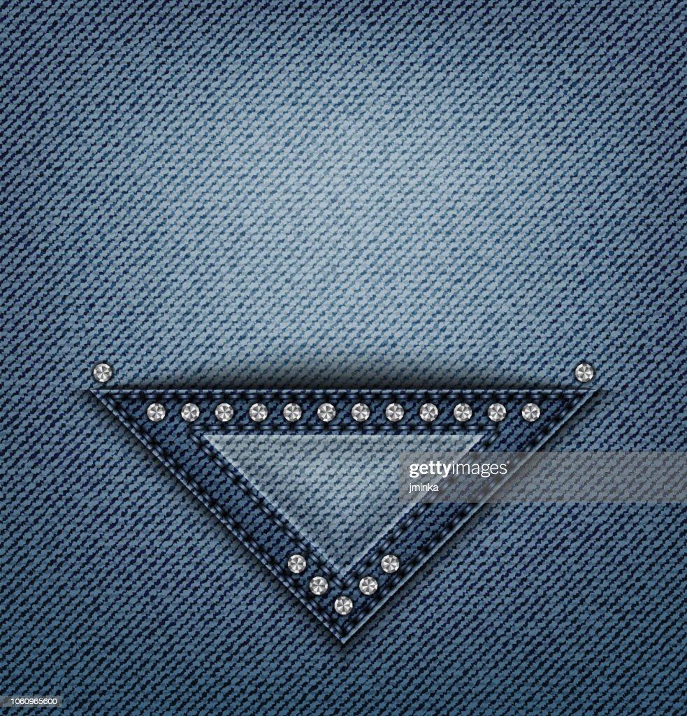 Jeans triangle pocket design