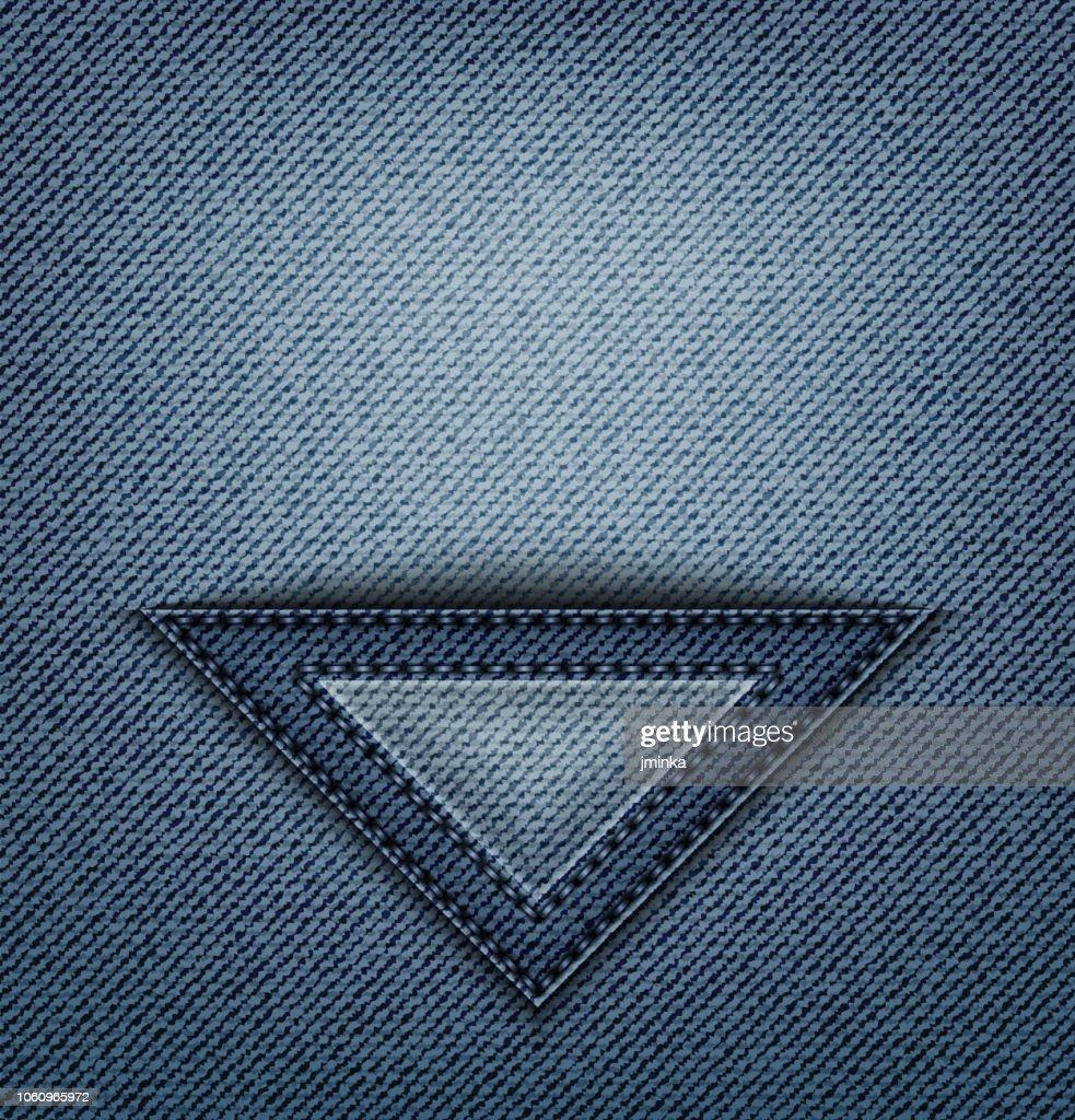 Jeans triangle pocket