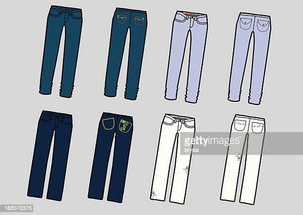 jeans - jeans stock illustrations, clip art, cartoons, & icons
