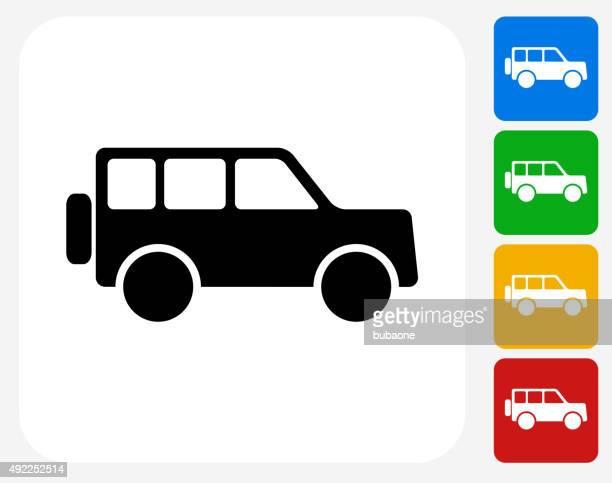 Jeep iconos planos de diseño gráfico